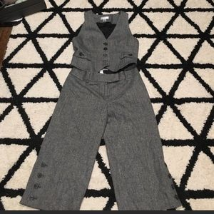 Ann Taylor cropped pant suit